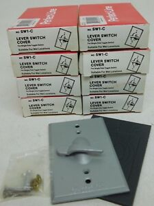 Lot Of 8 Perfect line Sw1 c Cover Standard Lever Toggle Switch Wet Locations Po
