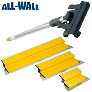Tapetech Drywall Finish Smoothing Blade Set 10 14 24 Knives Extension Handle