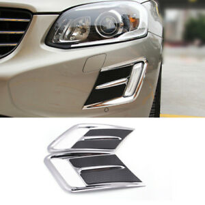 Car Front Fog Lamp Frame Decorative Cover Trim For Volvo Xc60 2014 2017