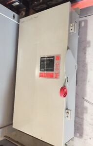 Cutler Hammer Safety Switch Dh364fdk 200 Amp 600 Volt Fusible 3r