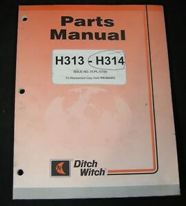 Ditch Witch H313 H314 Parts Manual Digging Attachments For 3700 Trencher Tractor