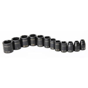 Craftsman 12 Pc Sae 1 2 Drive Shallow Impact Socket Set 3 8 To 1 1 16 Inch