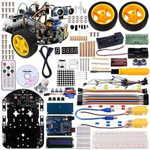Kids Electronics Longruner Arduino Project Smart Robot Car Kit With Two wheel Ds
