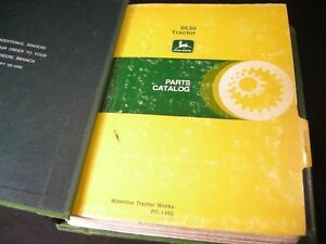 Jd John Deere 8630 Tractor Parts Manual Catalog Book In Original Binder Pc1486