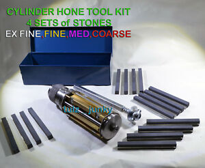 Motorcycle Atv Small Block Cylinder Hone Kit 50 Mm To 75 Mm 4 Sets Stones