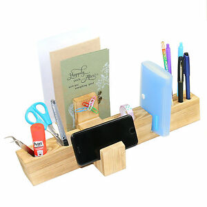 Lieomo Handmade Wood Desktop Organizer Office Desktop Organizer Gift Hd27