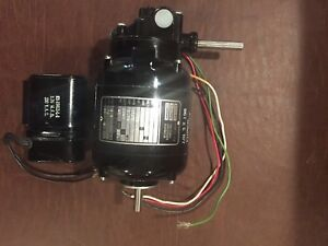 Bodine Fractional Hp Gearmotor Nci 12r 115v W capacitor western Electric Nos