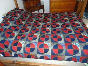 Antique Hand Sewn Wool Quilt 1800 S