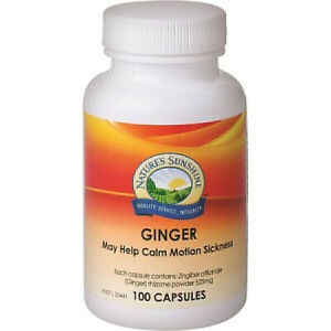 Natures Sunshine Ginger 525mg 100 Capsules