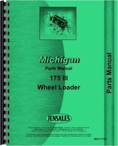 Michigan 175 Iii Wheel Loader Parts Manual Catalog