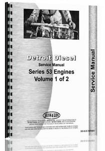 Detroit Diesel 53 Series Engines Service Manual 2 53 3 53 4 53 6v 53 8v 63 2 Cyl