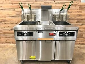 2002 Frymaster Double Fryer W Dumping Station And Built In Filtration Ng
