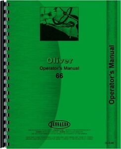 Oliver 66 Gas Diesel Tractor Operators Owners Manual