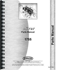 Oliver White 1755 Tractor Parts Manual Catalog Minneapolis Moline G 850
