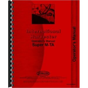 International Farmall Super Mta Mvta Tractor Operators Owners Manual