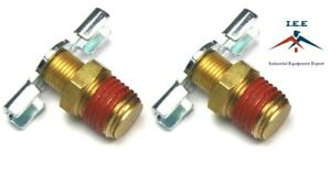2 X Drain Valve 1 4 Npt Petcock Water For Air Compressor Tank Replacement Part