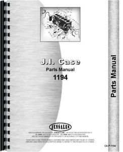 Case David Brown 1194 Tractor Parts Manual Catalog