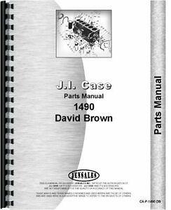 Case David Brown 1490 Tractor Parts Manual Catalog