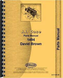 Case David Brown 1494 Tractor Parts Manual Catalog