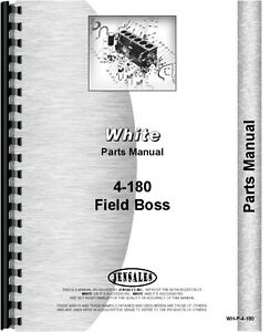 White 4 180 Field Boss 4wd Diesel Tractor Engine Parts Manual Catalog