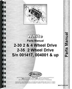 White 2 30 2 35 Diesel 2 4wd Tractor Parts Manual Catalog