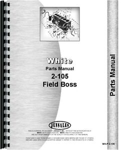 White 2 105 Diesel Tractor Parts Manual Catalog