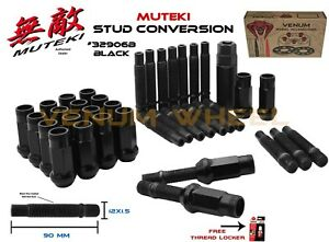 12x1 5 Black Open End Muteki Sr 48 Racing Lug Nuts Kit Fits Bmw 3 Series Models