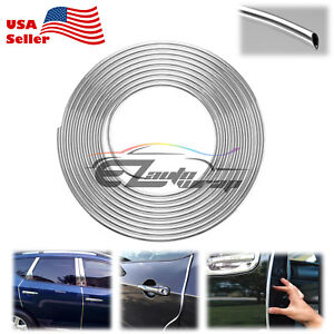 180 Long Silver Chrome Car Door Edge Guard Molding Trim Protectors Strip 15ft