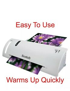 Scotch Thermal Laminator Laminating Machine 2 Roller Syst Warms Up Fast 3 5 Sec