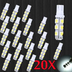 20pcs Super White T10 Camper 13 Smd 5050 Car Interior Led Light Bulbs Hot Sale