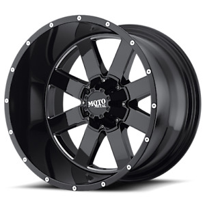 18x9 Moto Metal Mo962 Wheel And Tire Package 33 At 6x5 5 Chevy Gmc Black Milled
