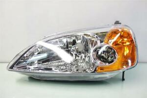 2001 2003 Honda Civic Coupe Headlight Driver Left Head Lamp Light Aftermarket
