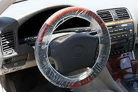 250 Pcs Clear White Plastic Disposable Steering Wheel Cover For Car Repair Shop