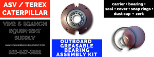 Greaseable Outboard Bearing Assembly Kit Caterpillar 277b 277 267 267b