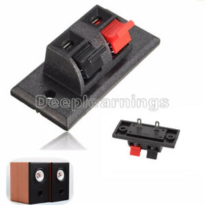 5 Pcs 2 Way Push Release Connector Plate Amplifier Speaker Terminal Strip Block