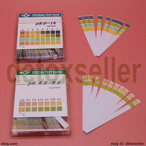 100 Full Range Ph 0 14 4 5 9 0 Test Indicator Paper Litmus Strips Urine Salvia