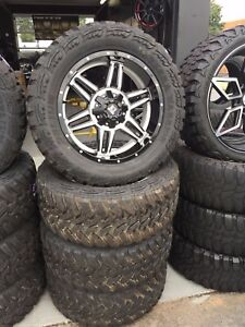 Brand New Set 20 K2 Offroad Wheel And Tire Package With Mud Tires 33x12 50 20