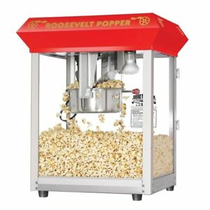 Movie Theatre Style Popcorn Machine Roosevelt Top Antique Popper Maker Tabletop