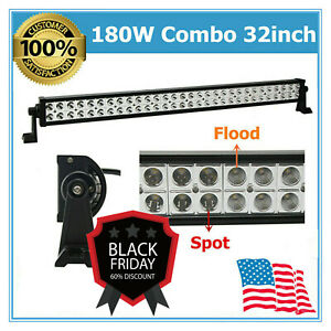 180w 32 Led Light Bar Combo Driving Off Road Truck 4x4wd Boat Trailer Ute 240w
