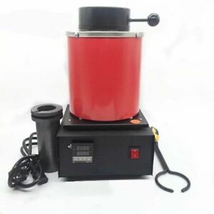Automatic Jewelry Refining Casting Silver gold Melting Furnace Scrap Pot 2kg