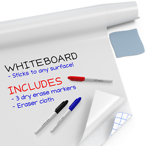 Large Whiteboard Sticker 8 Ft 3 Dry Erase Board Markers White Board Wall