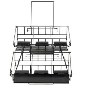 6 Airpot Coffee Display Commerical Black Wire Pot Rack Two Tier W Drip Trays