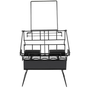 2 Airpot Coffee Display Commerical Black Wire Pot Rack W Drip Trays Restaurant