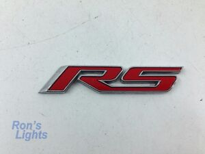2011 2015 Chevy Cruze Etc Front Door Rs Emblem Red Oem 22877479 Used