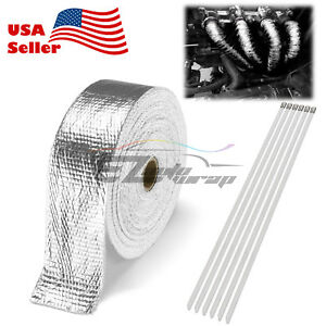 Silver Exhaust Pipe Insulation Thermal Heat Wrap 2 X50 Motorcycle Header