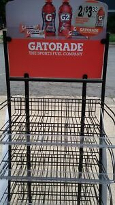 Gatorade Display 5 Adjustable Shelves With Roller Wheels Free Shipping