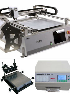 Smt Production Line neoden 3v adv stencil Printer reflow Oven T962a lower Cost l