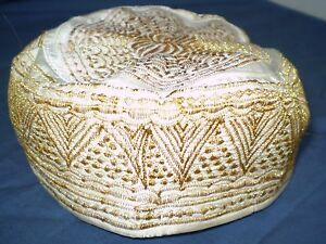 Antique Hat Metallic Threads Embroidery