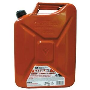 5 Gallon Jerry Gas Can Transport Fuel Without Spilling