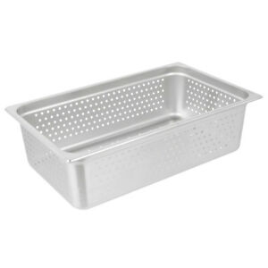 Full Size 6 Deep Silver Perforated Stainless Steel Steam Table Hotel Pan